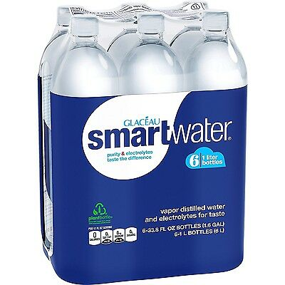 smartwater, 6 ct, 1L Bottle...