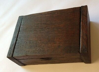 Vintage Teak Wood Wooden Trinket Box Storage Name Card Natural Color