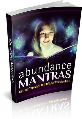Abundance Mantras Free Shipping ebook Full Resell Rights PDF