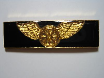 Motorcycle Unit Wings Metal Commendation Police Sheriff Black Enameled Color*