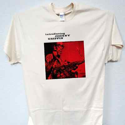 """INTRODUCING JOHNNY GRIFFIN,Blue Note Cover"""" T-SHIRT,S,M,L,XL,2X,3X,4X,5X,T-246"""