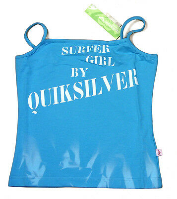 Quiksilver Girls Summer Strappy Cami Vest Top T Tee Shirt Azure Blue 12-16 Yrs