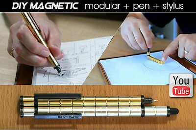 Creative Gold or Silver Plated Magnet Pen Stylus Modular for Galaxy Tab Note PDW