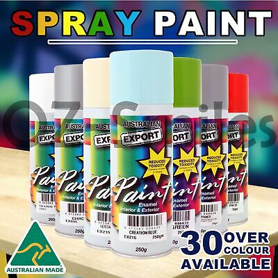 1x Australian Export Spray Paint Can Fast Shipping +30 colours Selection 250gm