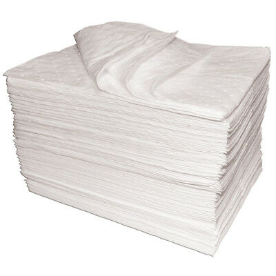 200 x Premium oil absorbent pads oil fuel soak dry mats spill protection SM50