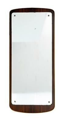 1960's ROSEWOOD AND BRASS DRESSING MIRROR