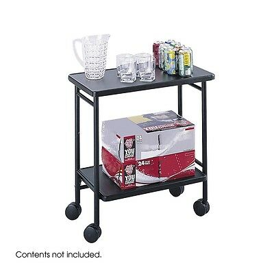 Safco 8965BL Folding Office Cart, Hospitality and Beverage Cart, Black NEW