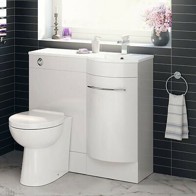 900mm Curved Bathroom Vanity Unit With Basin And Toilet
