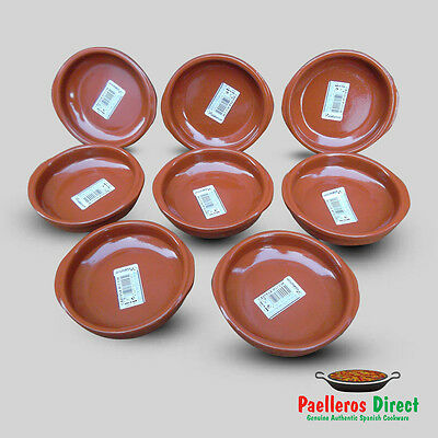 Set of 8 x 12cm Spanish Terracotta Tapas Dishes / Cazuelas