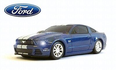 Ford Mustang GT Wireless Car Mouse (Blue) - Officially Licensed