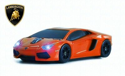 Lamborghini Aventador Wireless Car Mouse (Red) - Officially Licensed