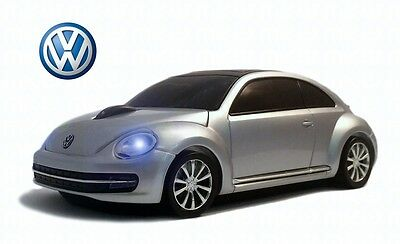 VW The Beetle Wireless Car Mouse (Silver) - Officially Licensed