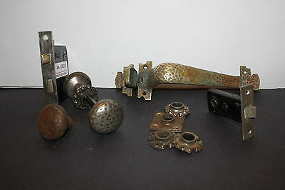 (AA-10014) Antique MORTISE Lock, Bronze Handle, YALE, Works!, Handyman Speci
