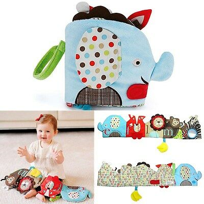Baby Clip-On Pram Book Toddler Early Reading Learning 3D Cartoon Taf Toys Gift