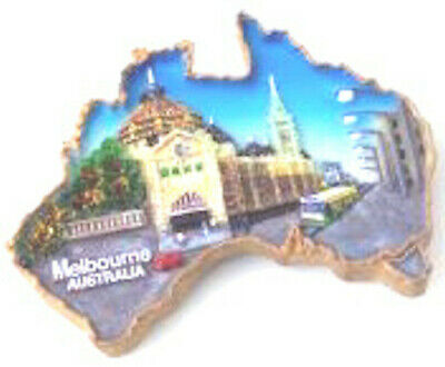 Australian Map With Melbourne Design Fridge Magnet