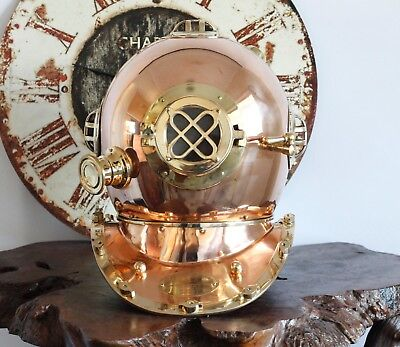 FULL SIZE BRASS DIVING HELMET US NAVY Replica home decor beach house Classic