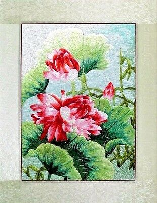 """Finished completed Embroidery Needlepoint""""LOTUS""""gifts decor gifts"""