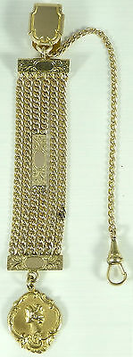 Antique ladies gilt fob watch chain or chatelaine. 4.5 inches long