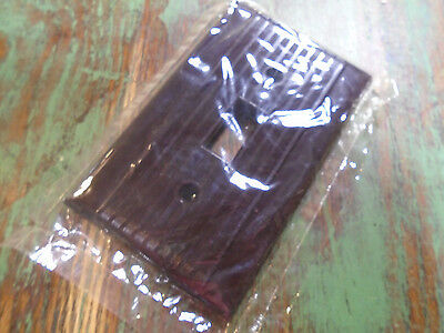 Vintage Bakelite Toggle Switch Plate Cover - Brown Nos Mid Century!  (1400-Bb)