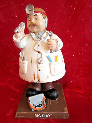 """Bobble Guyz Doctor M.D. """"Big Shot"""" figurine great gift boxed by Russ medical"""