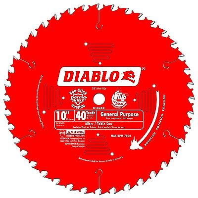 """Diablo 10"""" 40-Tooth ATB General Purpose Saw Blade with 5/8"""" Arbor Woodworking"""