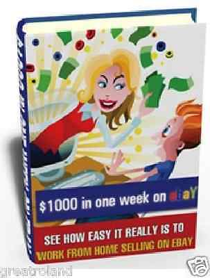 Work From Home Selling On eBay PDF eBook With Full Resell Master Rights