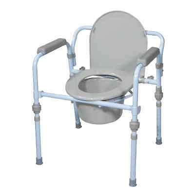 Folding Bedside Commode Seat Bathroom Toilet Portable Safety Potty Chair Folds