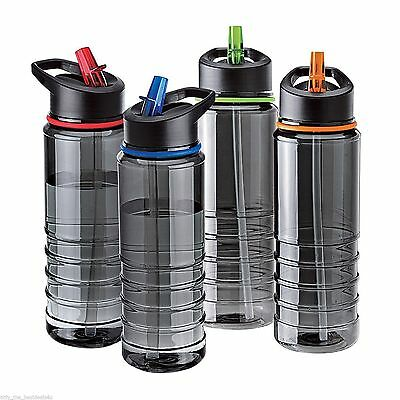 Flip Straw BPA Free Tritan Drinks Sport Hydration Water Bottle Cycling Hiking