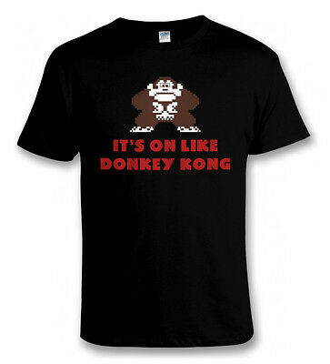 Vintage Retro Video Games ON LIKE DONKEY KONG Super NES Console T SHIRT