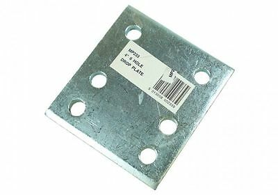 "Maypole Drop Plate Zinc Plated 4"" 6 Hole - MP233"