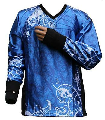 "Tournament Paintball Jersey ""Ghost"" Dunkelblau Gotcha Shirt Oberteil Trikot"