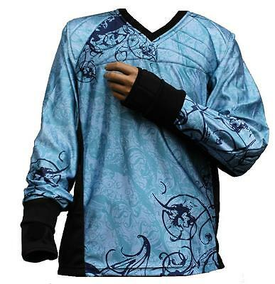 "Tournament Paintball Jersey ""Ghost"" Hellblau Gotcha Shirt Oberteil Trikot"
