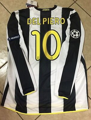 53ed18ae8 Italy Juventus Del piero Maglia Player Issue Soccer Nike Jersey Football  Shirt