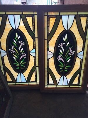 Sg 501 2 Available Priced Separate Antique Callalily Windows