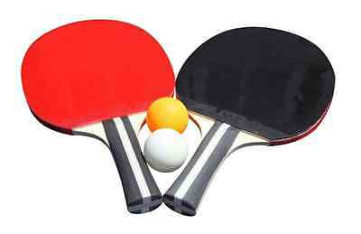 Hathaway Control Spin Table Tennis Ping Pong 2 Player Racket Paddle and Ball Set