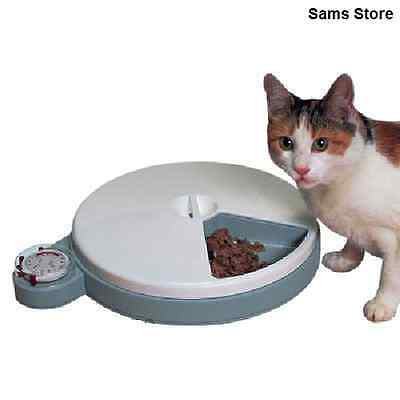Automatic Pet Feeder Cat Dog 5 Feeds 96 hour Timer Dry Cooler Fresh Wet Food