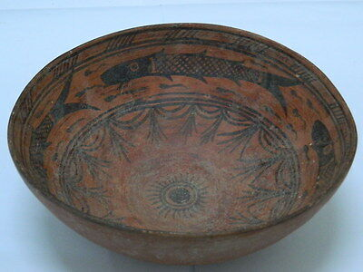Ancient Huge Size Teracotta Painted Pot With Fishes Indus Valley 2500 BC #PT#