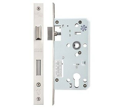 Euro Profile DIN Standard Mortice Sashlock -Satin Stainless Steel (60mm Backset)