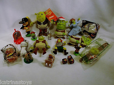 Large Lot of USED Dreamworks Shrek Forever After puss gingy toy figures F