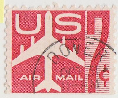 (UST-141) 1958 USA 7c red jet air mail (E)