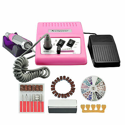30000 RPM Improved 6 Bits Electric Nail Art File Drill Tool Manicure Acrylic Kit