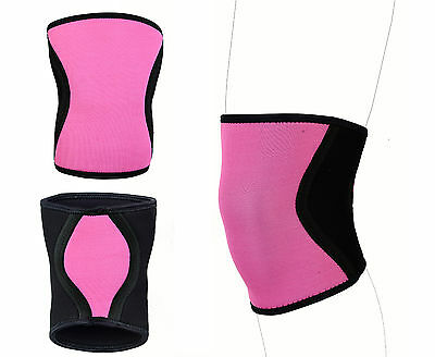 KNEE SLEEVE-HUBB FITNESS TRAINING EXERCISE GYM SQUAT PADS BODY BUILDING 7mm PAIR