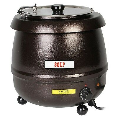 Thunder Group 10.5 Quart Stainless Steel Soup Warmer in Brown Color, SEJ32000C