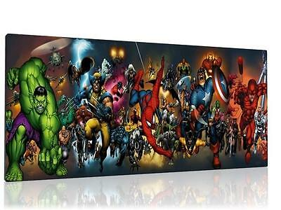 """Single Canvas Picture Wall Art Marvel Avengers  8"""" X 16""""  New !!"""