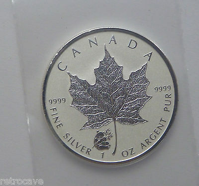 2016 Canadian 1 oz Silver Maple Leaf with Panda Privy .9999 Silver Bullion Coin