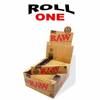 RAW CLASSIC King Size Slim 110 mm Natural Unrefined Rolling Paper 50 packs