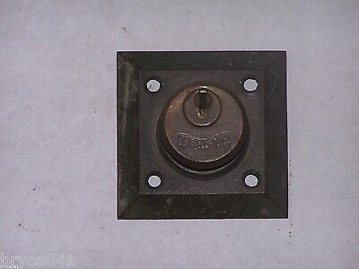Antique Cantrell Cylinder, Cylinder ring, and Large Square Escutcheon
