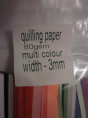Quilling strips- 3 mm Multi-colour packs-aprox 500 strips-80gsm