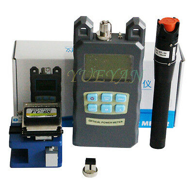 FTTH Tool Kit FC-6S Fiber Cleaver Optical Power Meter 30Mw Visual Fault Locator