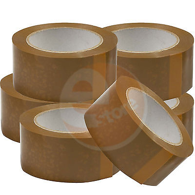 72 X Pc New Roll Brown Packaging Buff Packing Parcel Tapes 48Mm X 50M